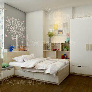 Set phòng giường đơn cho bé gái Y12