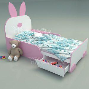 Giường tai thỏ G03 đáng yêu cho bé gái
