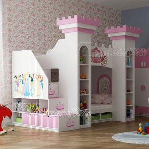 Giường tầng công chúa GT08 cho bé gái