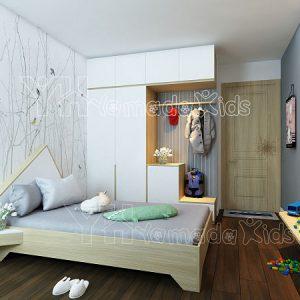 Mẫu phòng đơn hình ngôi nhà Y07