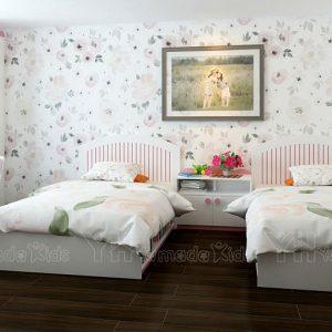 Set phòng đôi cho bé gái Y13