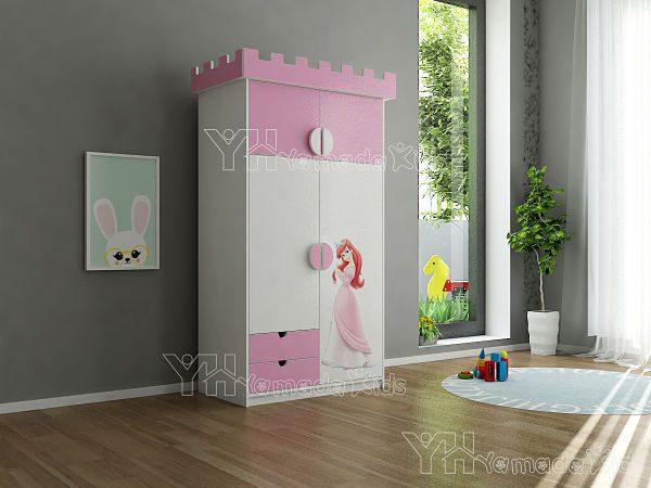 Tủ quần áo công chúa TA08 đáng yêu cho bé gái