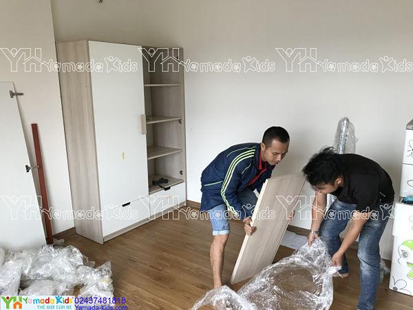 Dự án thi công set phòng bé gái chung cư Berriver Long Biên