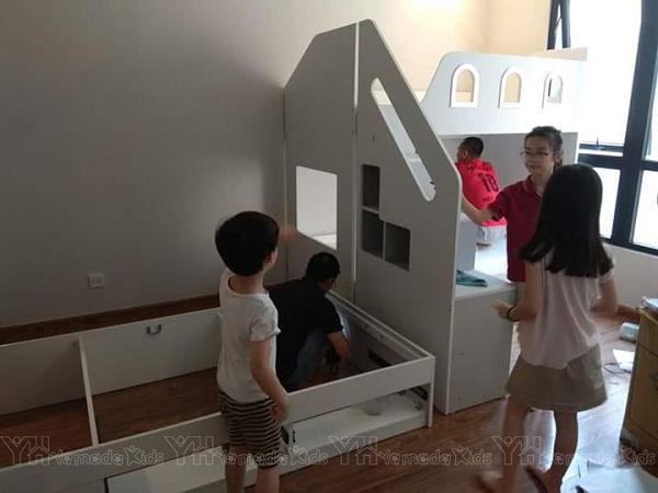Thi công nội thất phòng ngủ cho 3 bé - Time City