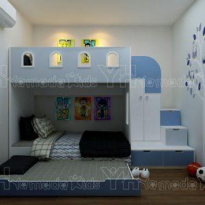 Bộ phòng giường tầng cho bé trai Y20