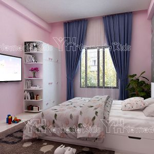 Bộ phòng màu hồng cho bé gái