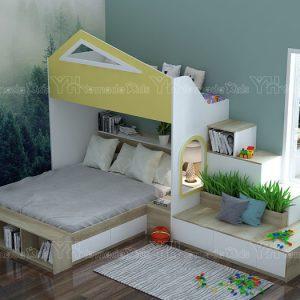 Phòng ngủ kết hợp cho căn chung cư nhỏ Y41