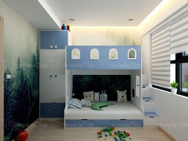 Set giường tầng y37 cho bé trai