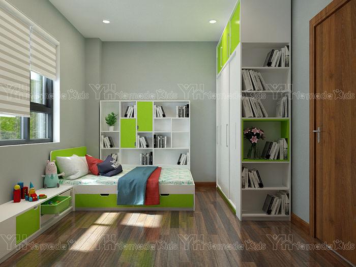 Thiết kế phòng ngủ cho 2 bé