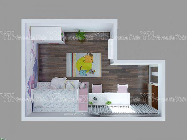 Bộ phòng giường tầng công chúa Y59