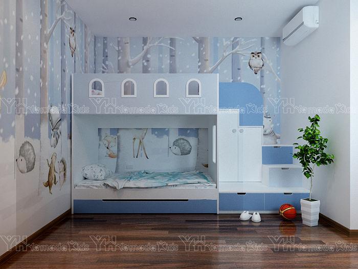 Bộ phòng giường tầng kết hợp giương kéo