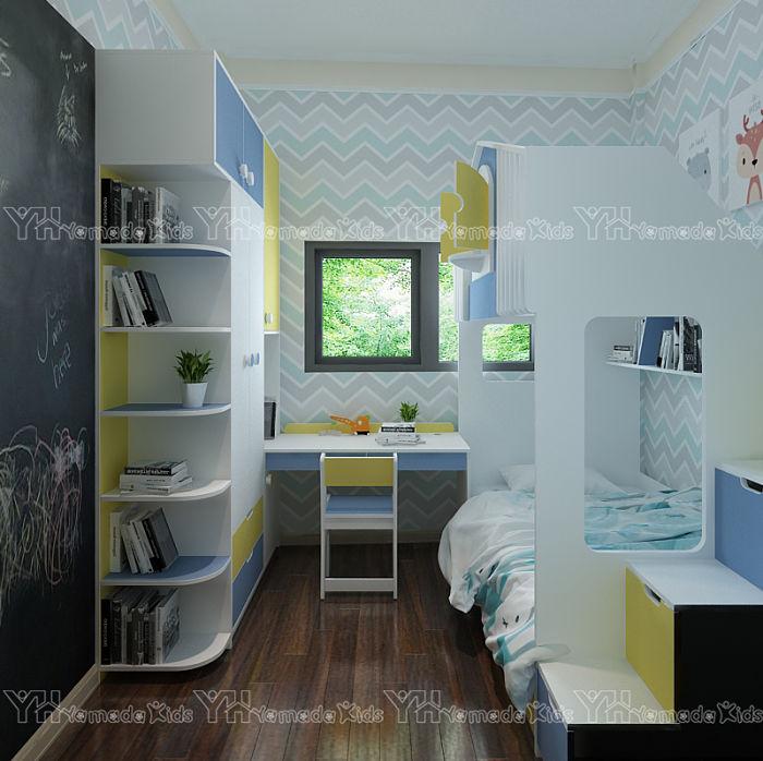 Thiết kế phòng ngủ nhỏ cho 2 bé